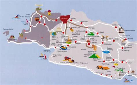 cirebon amazing tourism map  cirebon west  java
