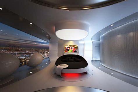 futuristic bedroom design  luxury penthouse