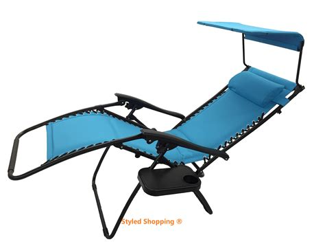 deluxe padded comfort zero gravity chair with canopy