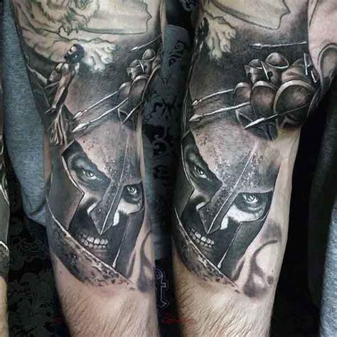 spartan tattoo designs  men masculine warrior ideas