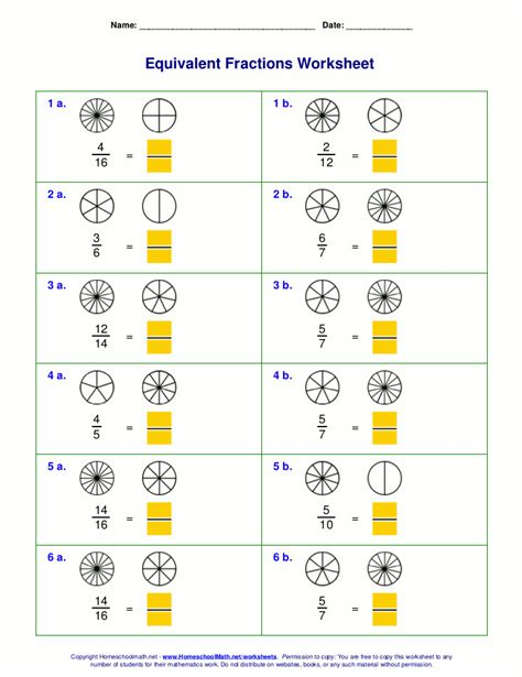 equivalent fractions worksheet 3rd grade homeschooldressage