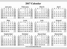2017 Calendar Download