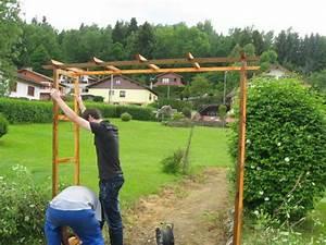 Fabriquer Une Pergola En Alu : une pergola en bois turquoise creations ~ Edinachiropracticcenter.com Idées de Décoration
