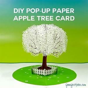 Pop-Up Paper Apple Tree Card (3D Sliceform) - Jennifer Maker