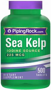 Sea Kelp  Iodine Source 225 Mcg  225 Mcg 500 Tablets 1775