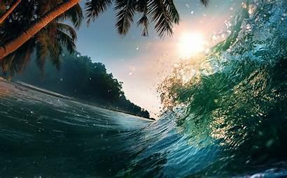 Ocean Scenes Scene Water Waves Tropical Sea