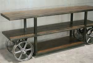 Singer Kitchen Cabinets by Industrial Trolley Cart Media Console Tv Stand