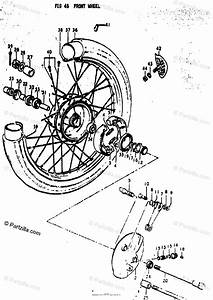 Suzuki Motorcycle 1973 Oem Parts Diagram For Front Wheel