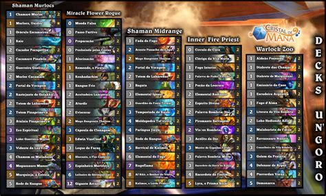 Priest Deck 2017 by Cristal De Mana Hearthstone Brasil Decks Un Goro