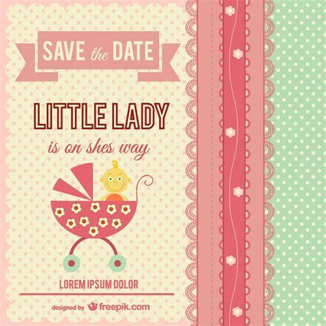 Tarjeta De Invitación Para Bebé  Descargar Vectores Gratis