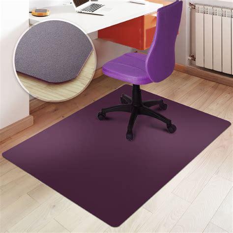 rectangular office chair mat purple floor protection