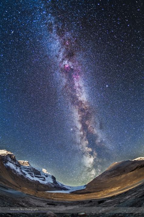 Milky Way Over The Icefields The Amazing Sky