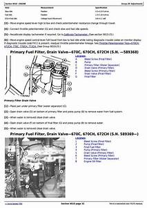 John Deere 670c  670ch  672ch  770c  770ch  772ch Series Ii Motor Grader Diagnostic Manual