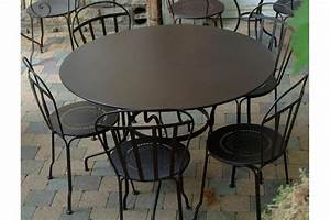 Mobilier De Jardin Fermob : table romane fermob ronde diam 137 cm latour mobilier de jardin ~ Dallasstarsshop.com Idées de Décoration