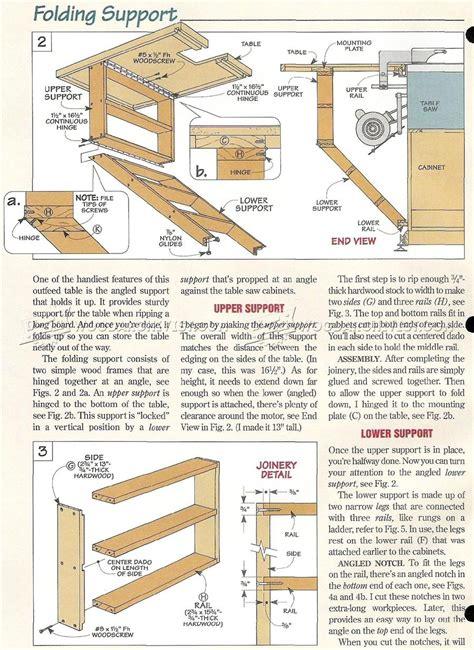 Table Saw Workstation Plans • Woodarchivist