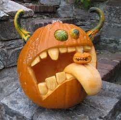 unique halloween pumpkin carving designs with double