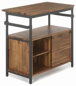 kota bain meuble sous vasque en bois et metal industriel With meuble sous lavabo bois
