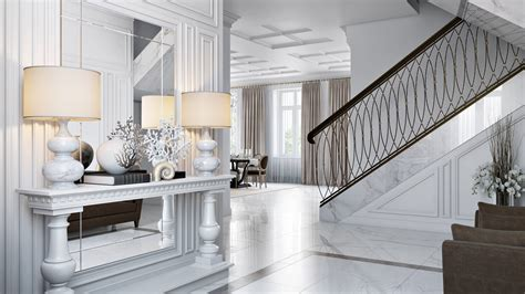 Interior Design : Interior Design 3d Rendering For A Chic Apartment Project