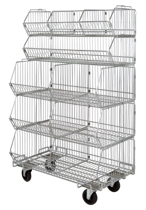 archive chrome wire modular stacking baskets indoff