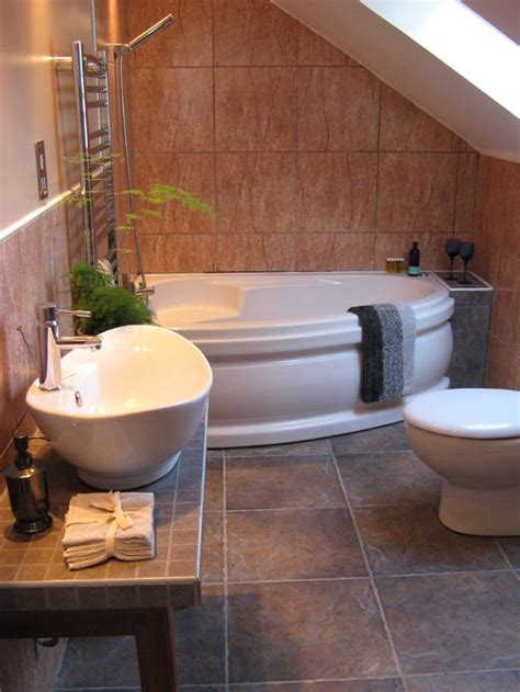corner tub bathroom ideas corner bath tubs are big in small spaces