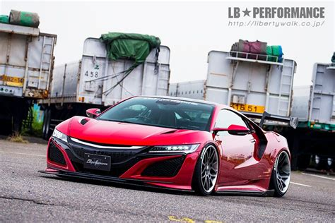 Acura Nsx Kit by Liberty Walk Introduces New Acura Nsx And Ford Mustang Kits