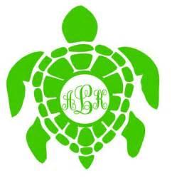last name monogram sea turtle monogram turtle monogram car window decal