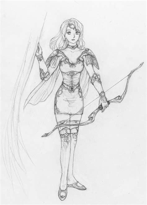 armor drawn anime archer girl cool stuff   art