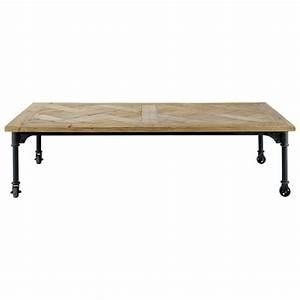 Table Basse Sur Roulette : table basse roulettes en bois et m tal l 160 cm mirabeau ~ Melissatoandfro.com Idées de Décoration