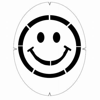 Smiley Face Stencil Smile Clipart Tourna Paint