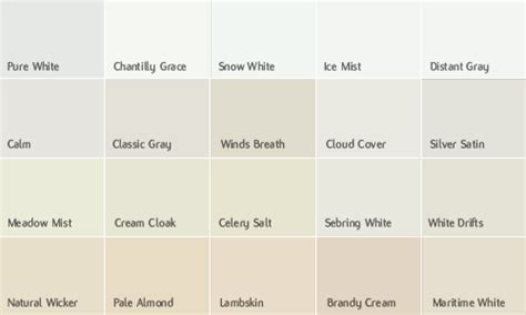 benjamin moore off white colors actual chip colour may