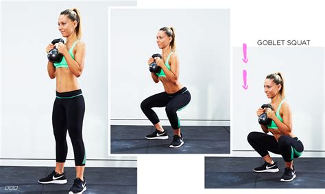 squat goblet kettlebell exercises muscles woman doing booty workout squats sumo glutes butt variations kettle dumbbell bell fat exercise target