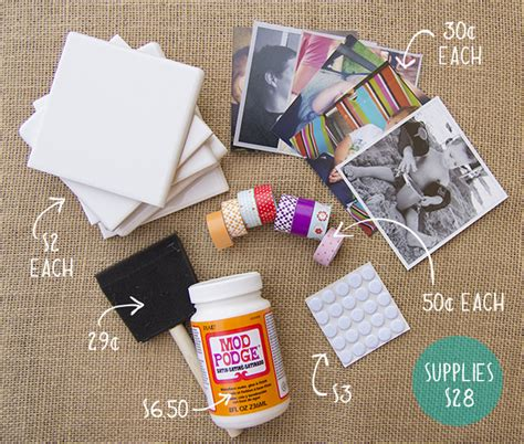 diy coaster how to make diy photo coasters cardstore blog