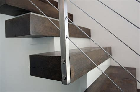 floating staircase railing modern grand rapids