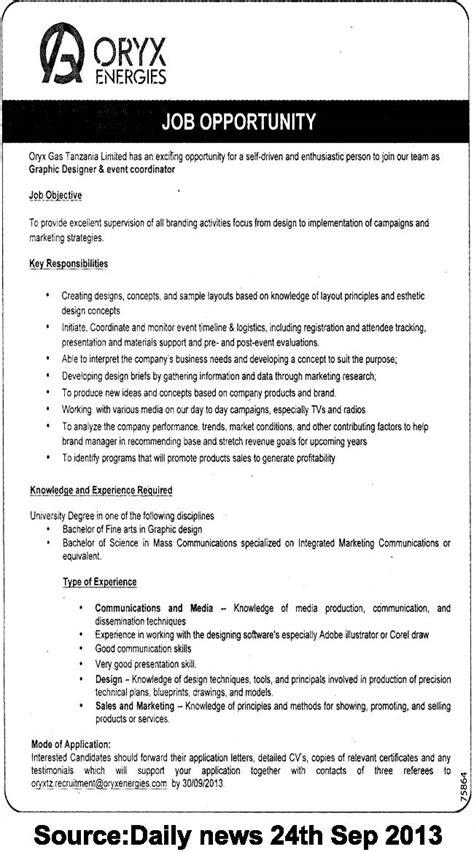 conference coordinator description graphic designer and event coordinator tayoa employment portal