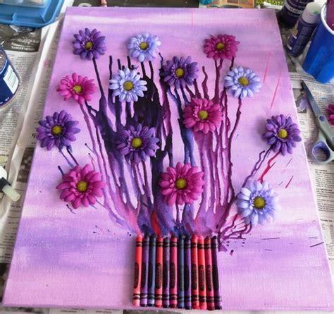 fun  budget friendly melted crayon art ideas