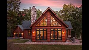 Hybrid Log Lake Home By Dickinson Homes