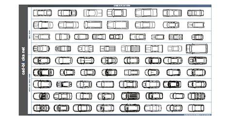 vehicles cad blocks cars  plan view