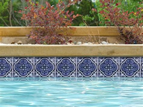 national pool tile casablanca 6x6 deco series cobalt
