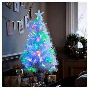 buy 3ft white fiber optic colour changing christmas tree from our christmas trees range tesco