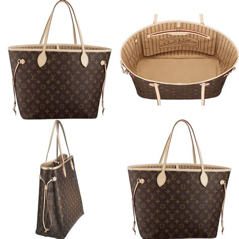 unnies shop louis vuitton neverfull monogram bag replica