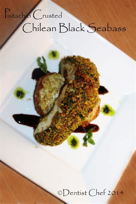 crusted fish pistachio ala fillet chilean dentist chef seabass recipe bass sea