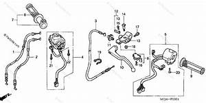 Honda Motorcycle 2002 Oem Parts Diagram For Cable    Switch