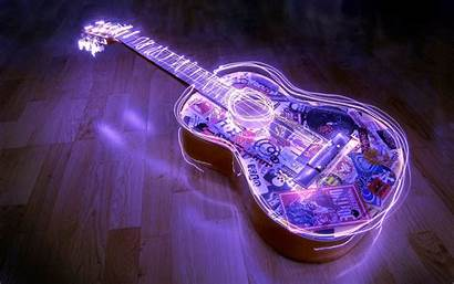 Guitar Purple Cool Wallpapers Backgrounds Background Desktop