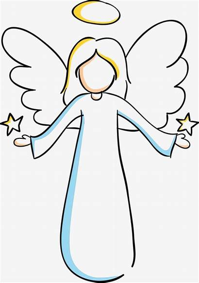 Angel Painting Cartoon Clipart Background Christmas Angels