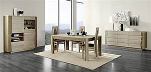 salle a manger lady chene finition bois laque meubles With salle À manger contemporaineavec salle a manger bois massif