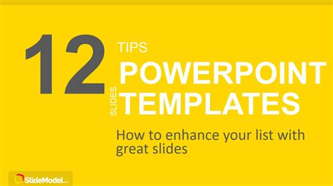 create ppt template 12 tips list powerpoint templates slidemodel