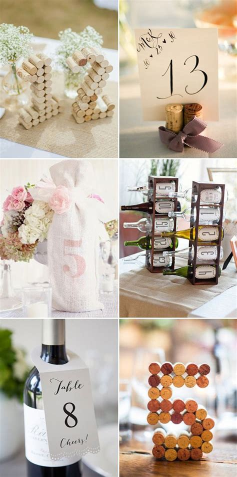 51 Creative Diy Wedding Table Number Ideas Diy Wedding