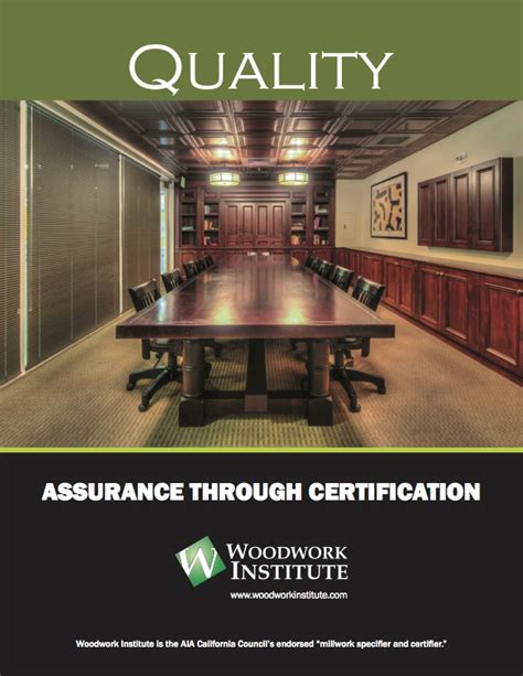 quality assurance woodwork institute