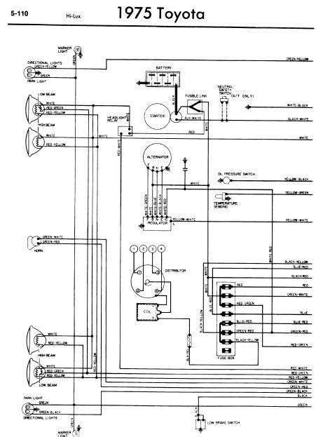 Land Cruiser Sel Wiring Diagram by Wiring Diagram Info Toyota Hilux 1975 Wiring Diagrams