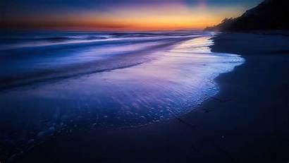 Beach 4k Sunset Wave Silent Wallpapers Resolution